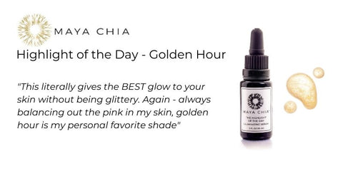 Maya Chia Highlight of the Day in Golden Hour to cancel out pink