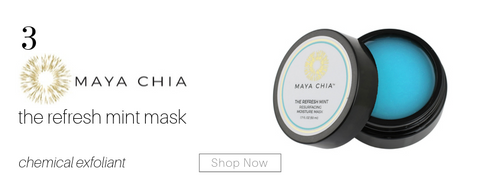 3. maya chia the refresh mint mask. chemical exfoliant