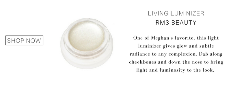 living luminizer from RMS beauty. one of meghan's favorites, this light luminizer gives glow and subtle radiance to any complexion. dab along cheekbones and down the nose to bring light and luminosity to the look.