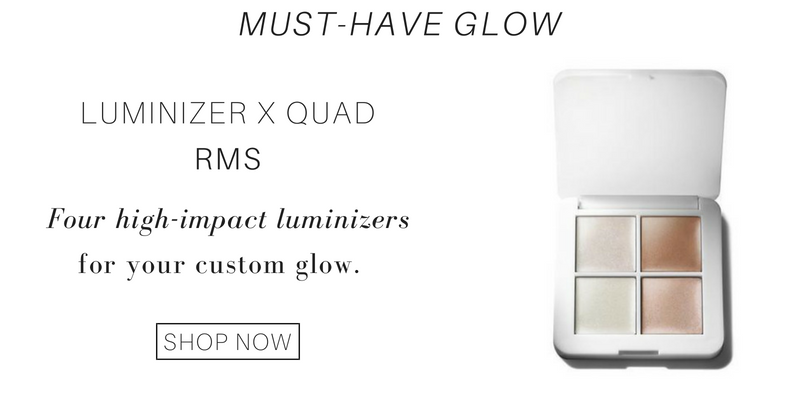must-have glow: luminizer x quad from rms. four high impact luminizers for your custom glow