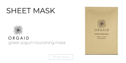 sheet mask: greek yogurt nourishing mask from orgaid