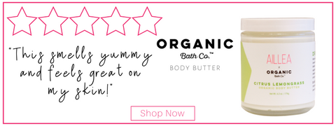 "organic bath co. body butter. ""this smells yummy and feels great on my skin!"""