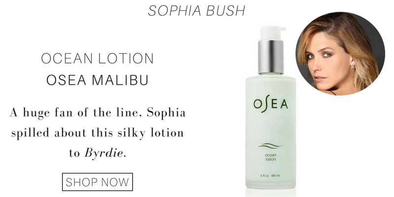 sophia bush: ocean lotion from osea malibu. a huge fan of the line, sophia spilled about this silky lotion to byrdie.