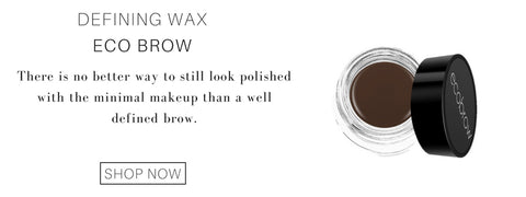 defining wax from eco brow: there is no better way to still look polished with the minimal makeup than a well defined brow.