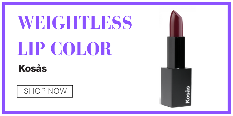 weightless lip color from kosas