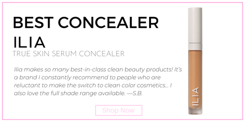 "best concealer: ilia true skin serum concealer. ""Ilia makes so many best-in-class clean beauty products! It's a brand I constantly recommend to people who are reluctant to make the switch to clean color cosmetics... I also love the full shade range available."" —S.B."