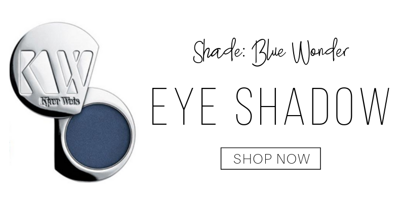eyeshadow in the shade blue wonder from kjaer weis