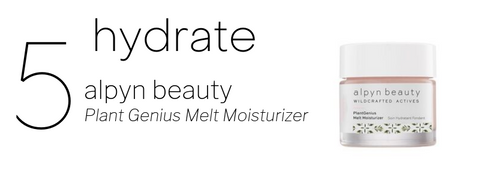 5. hydrate. pictured: alpyn beauty plant genius melt moisturizer