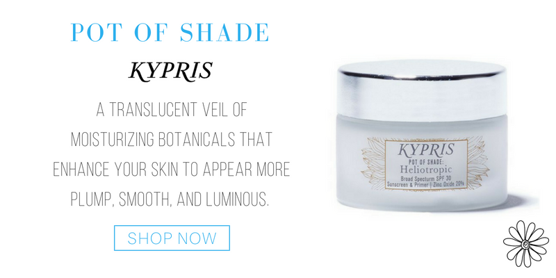 pot of shade from kypris. a translucent veil of moisturizing botanicals that enhance your skin to appear more plump, smooth, and luminous.