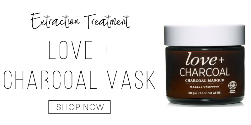 extraction treatment: love and charcoal mask from one love organics