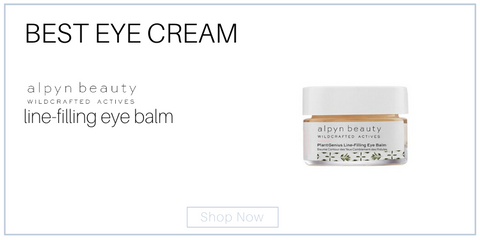 best eye cream alpyn line filling eye cream