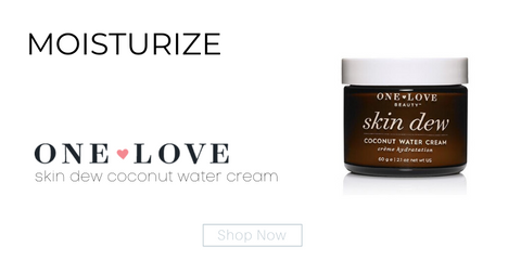 moisturize: skin dew coconut water cream from one love organics