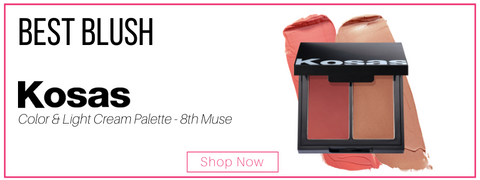best blush: kosas color and light cream palette - 8th muse