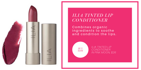 ilia tinted lip conditioner: combines organic ingredients to soothe and condition the lips.