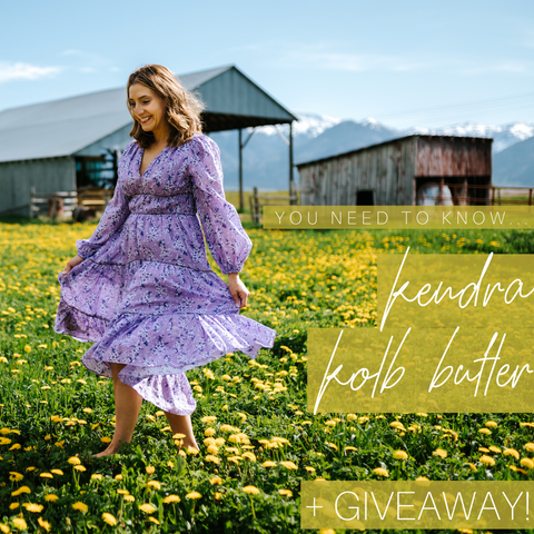 You Need to know Kendra Kolb Butler plus a special giveaway!