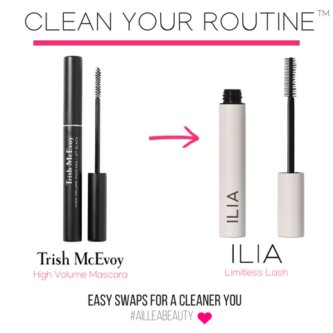 clean your routine and swap Trish MCEvoy mascara for ILIA Limitless Lash