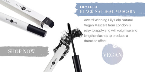 lily lolo black natural mascara (vegan): award winning lily lolo natural vegan mascara from london is easy to apply and will volumize and lengthen lashes to produce a dramatic effect.