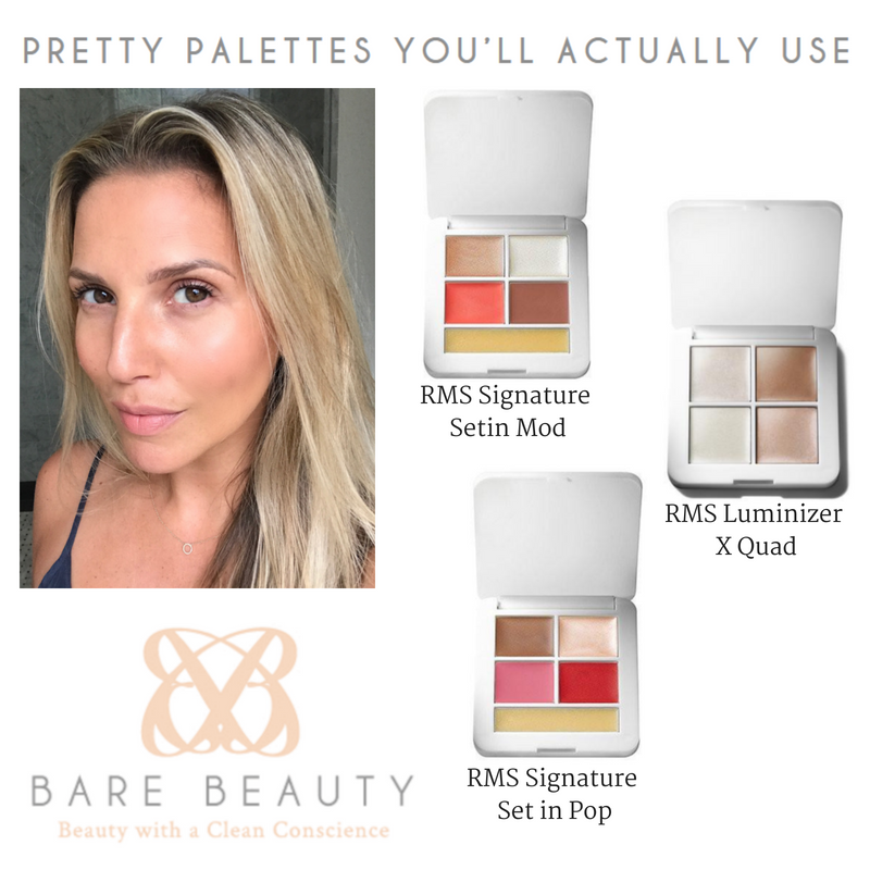 pretty palettes you'll actually use. featuring rms signature palette in setin mod, rms luminizer x quad, and rms signature set in pop. article from bare beauty