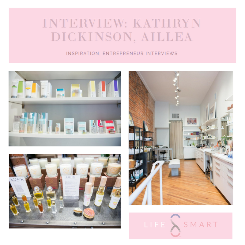 interview: Kathryn Dickinson, Aillea. article from Life smart