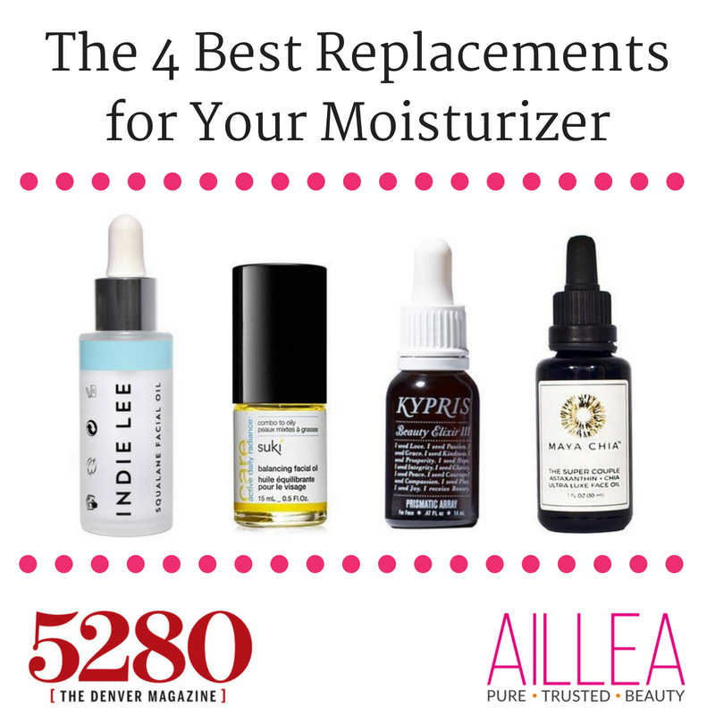 the 4 best replacements for your moisturizer. featuring indie lee, suki, kypris, and maya chia. article from 5280 denver magazine.