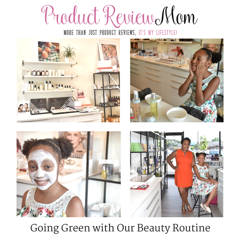 going green with our beauty routine. article by product review mom