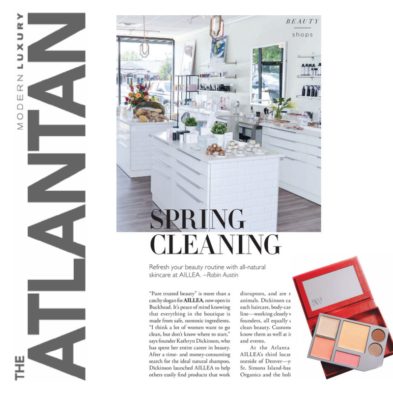 spring cleaning: refresh your beauty routine with all-natural skincare at aillea. article by robin austin from the atlantian
