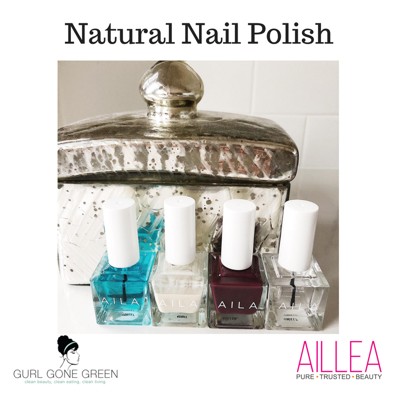 natural nail polish. featuring aila nail polish. article by gurl gone green