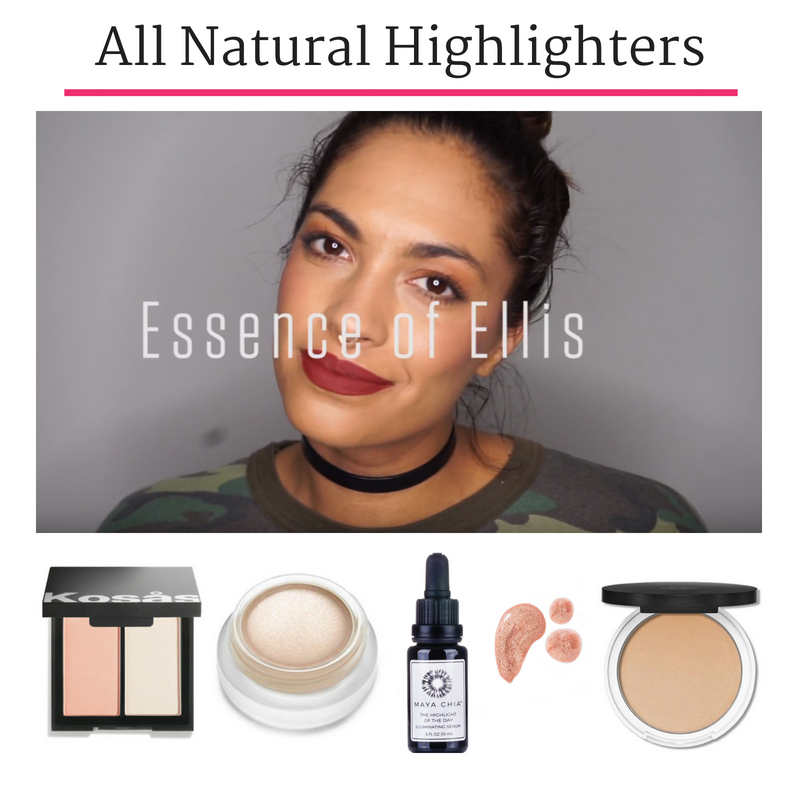 all natural highlighters. video by essence of ellis