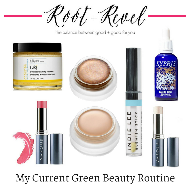 my current green beauty routine. article from root and revel