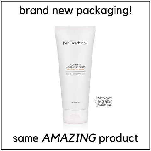 josh rosebrook complete moisture cleanse. brand new packaging! same amazing product. packaging made from sugarcane.