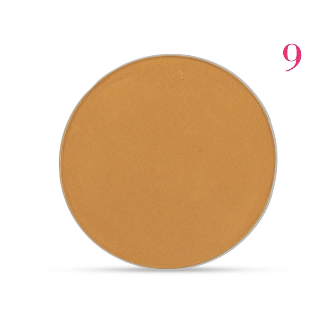 Clove + Hallow pressed mineral foundation powder shade 9 AILLEA