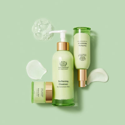 Tata Harper Superkind Skincare Collection and Textures. A skin safe tested and clinically backed skincare line that is super effective and powerful even on the most sensitive of skins. Softening Cleanser, Radiance Mask and Fortifying Moisturizer. - AILLEA