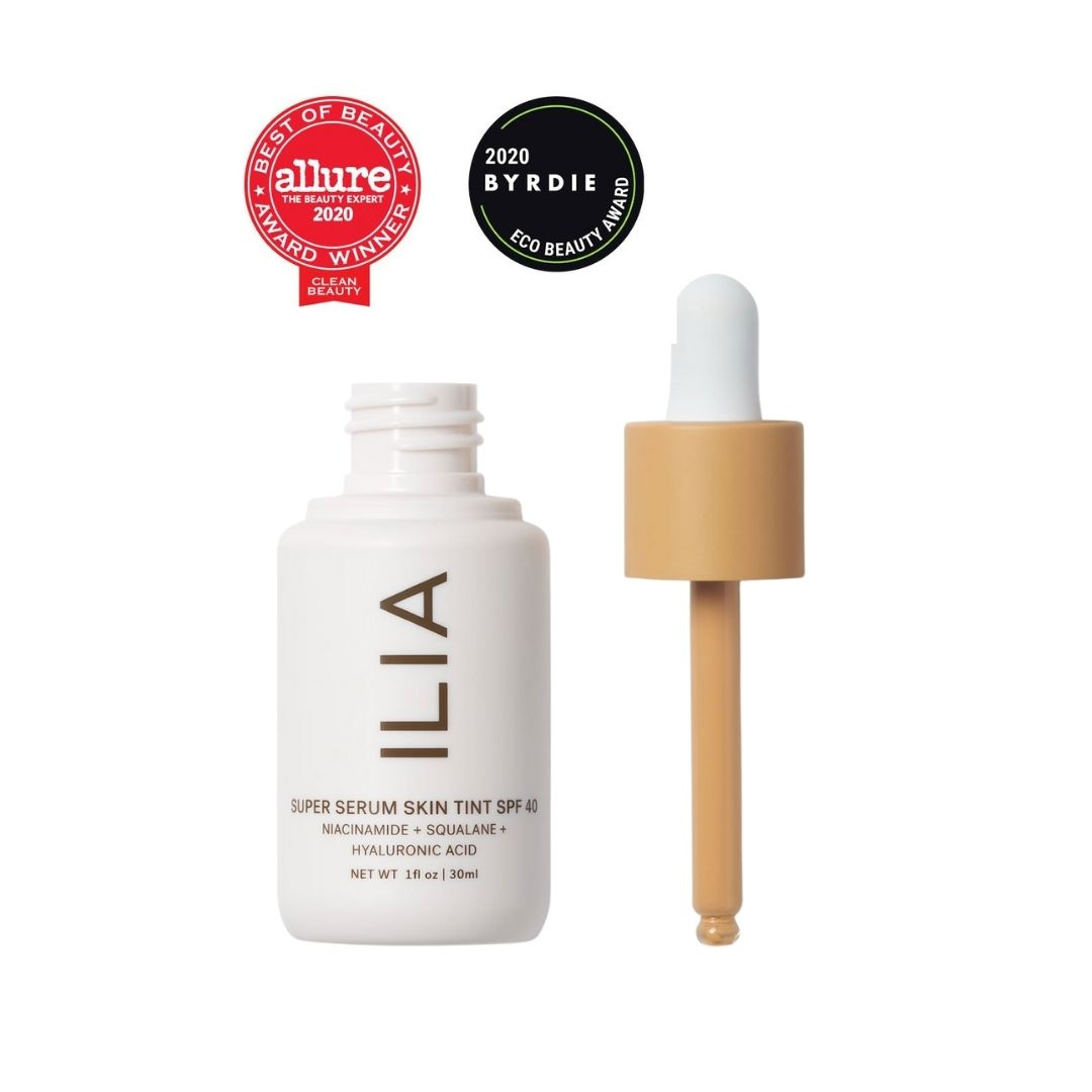 ILIA Super Serum Skin Tint SPF 40- Best Clean Foundation, Allure (2020) - Best Clean Foundation, Glamour (2020) - Best Makeup with Clean Sunscreen, Elle (2020) - Best Foundation, Byrdie Eco Beauty Awards (2020) - Hottest Launches of 2020, OK! Magazine (2020) - Best Tinted Moisturizer, Shape (2020) - Beauty Innovator Award, Refinery29 (2020) - AILLEA