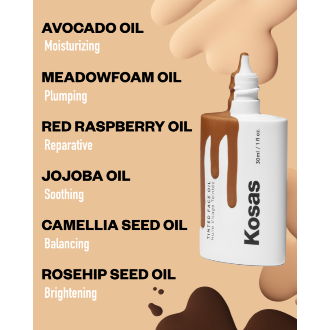 Kosas Tinted Face Oil - benefits graphic - AILLEA