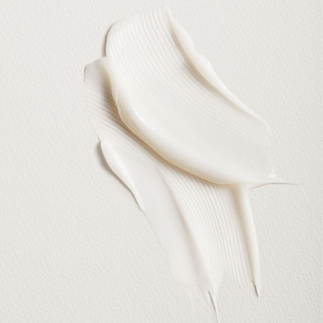 Tata Harper Superkind Radiance Mask Texture Shot - Dreamy Cloud- like texture activates and turns white on skin when massaged in.