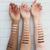 Conceal and Correct Shade Swatches on 3 different skin tones  AILLEA
