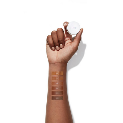 "RMS ""Un"" Cover-up Concealer arm swatches of shades 66-122"