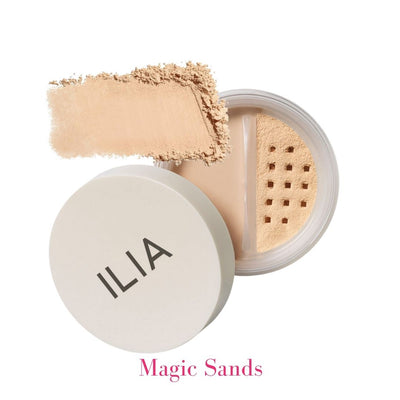 ILIA Radiant Translucent Powder SPF 20 in Magic Sands Light to Medium Tinted Translucent Powder - AILLEA