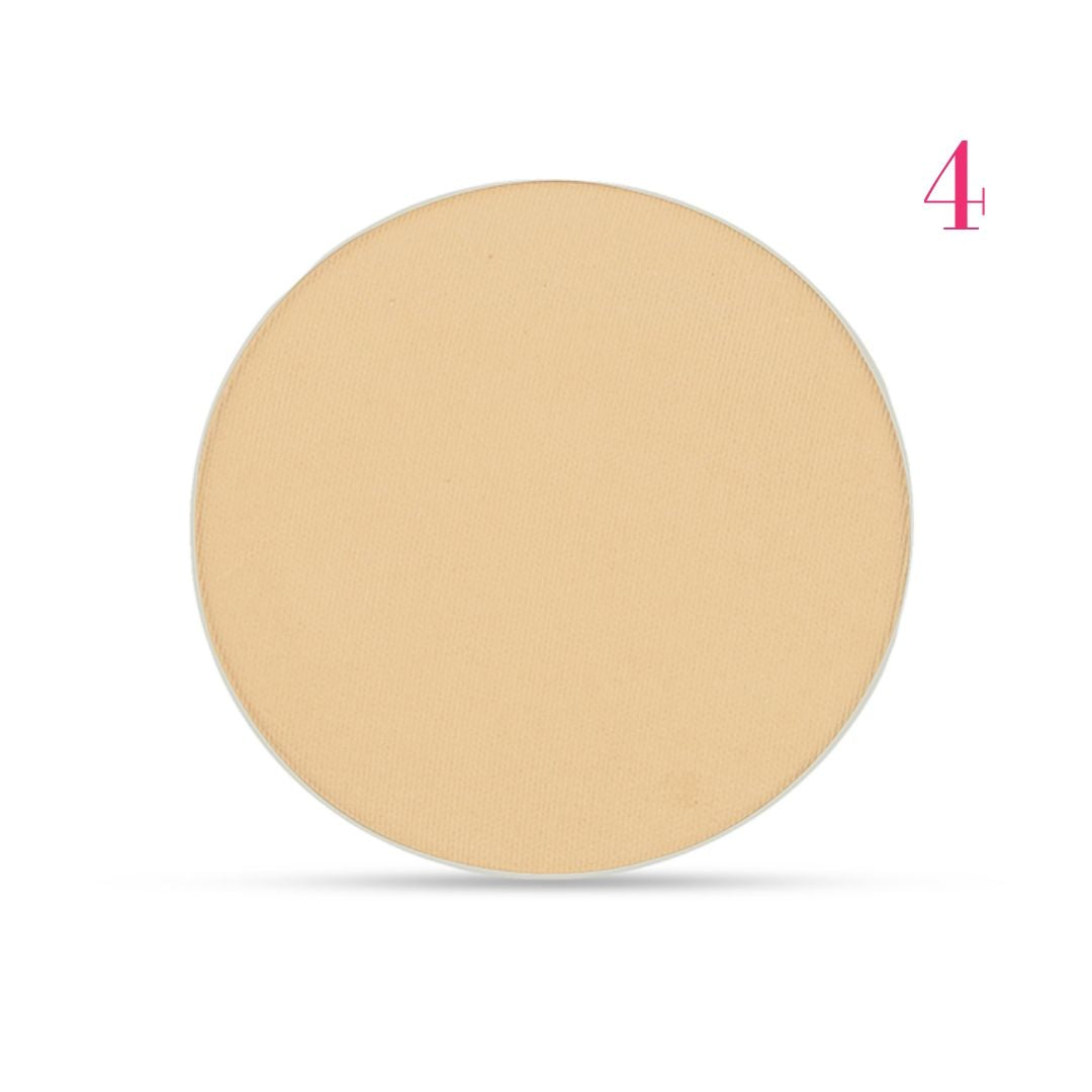 Clove + Hallow pressed mineral foundation powder shade 4 AILLEA