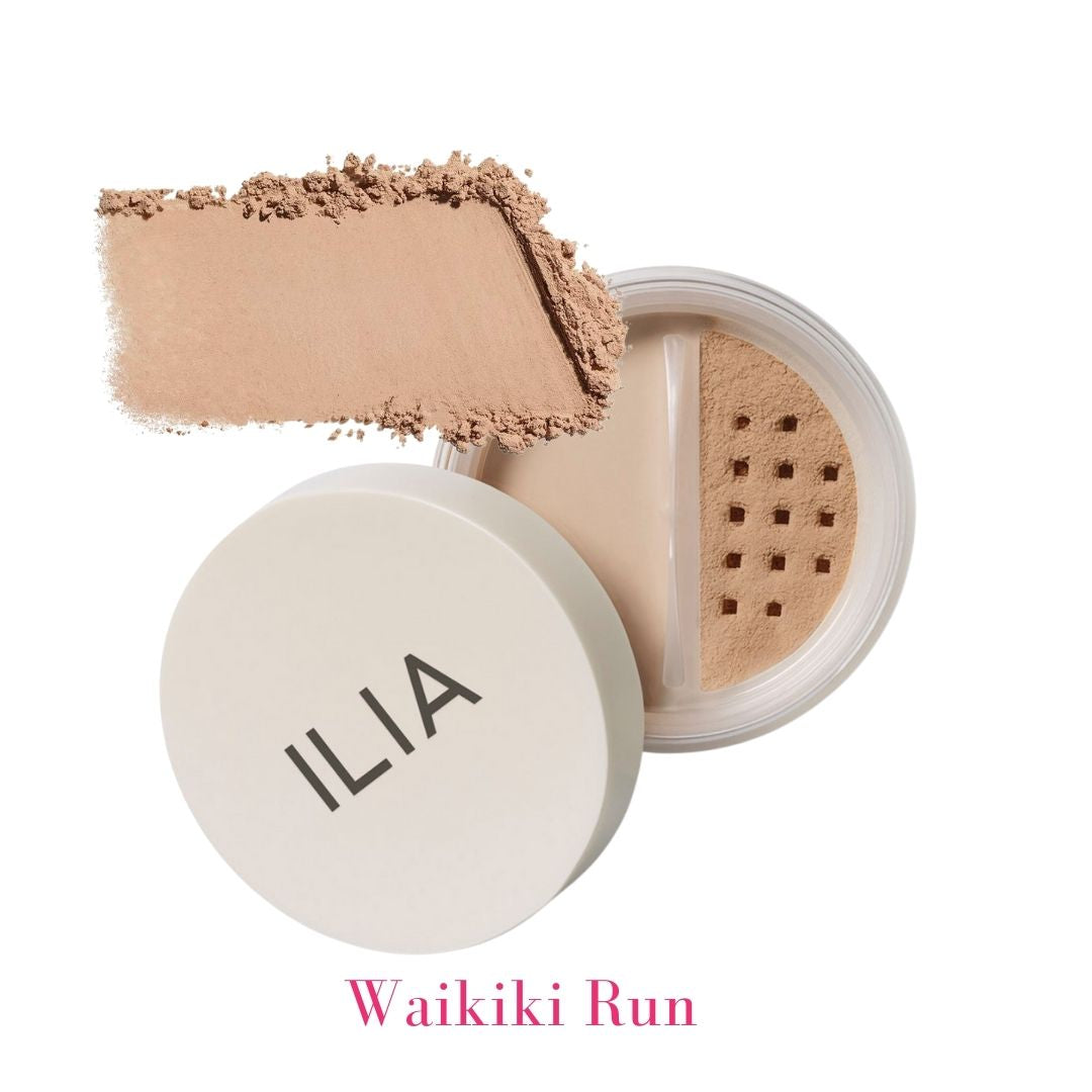 ILIA Radiant Translucent Powder SPF 20 in Waikiki Run Medium to Dark Tinted Translucent Powder - AILLEA