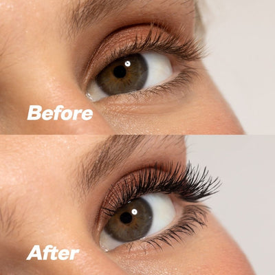 Kosas Big Clean Mascara Before and After 1- AILLEA