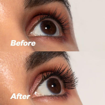 Kosas Big Clean Mascara Before and After 2- AILLEA