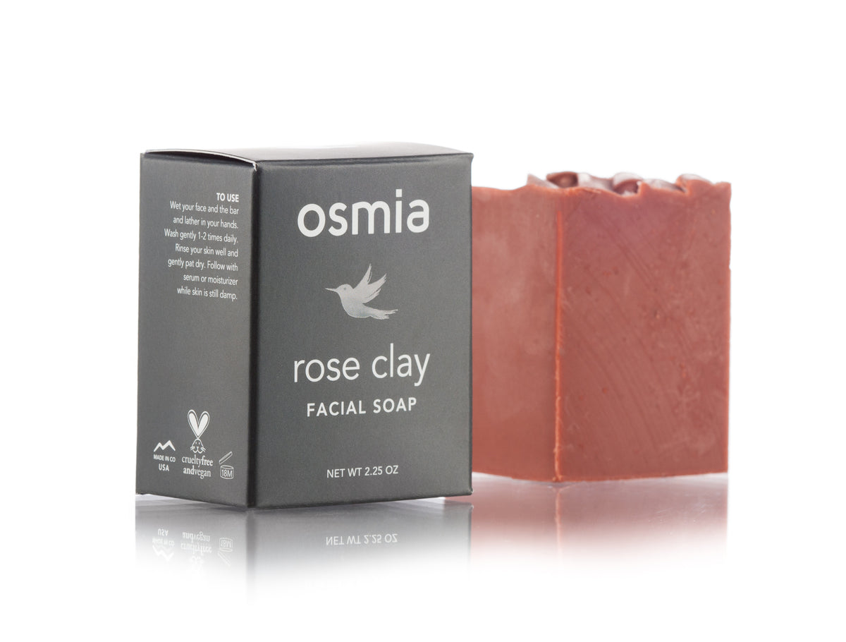 Osmia Rose Clay Facial Soap - AILLEA