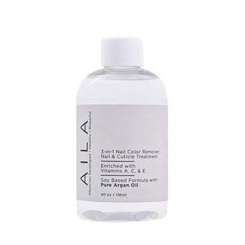 AILA 3-in-1 Nail Color Remover with Pure Argan Oil