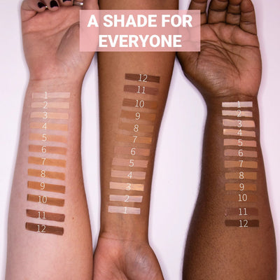 Clove + Hallow skin tint arm swatches  AILLEA