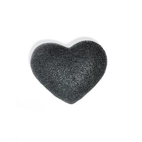 One Love Organics The Cleansing Sponge - Bamboo Charcoal Heart - AILLEA