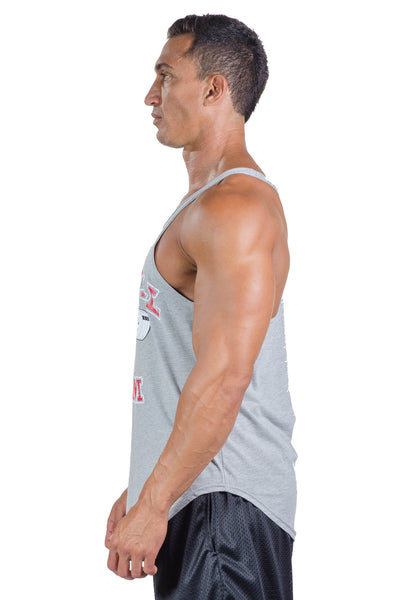 a87a14efc3fb8 ... pitbull stone stringer tank grey work out tops gym clothes weight lifting  body lifting apparel