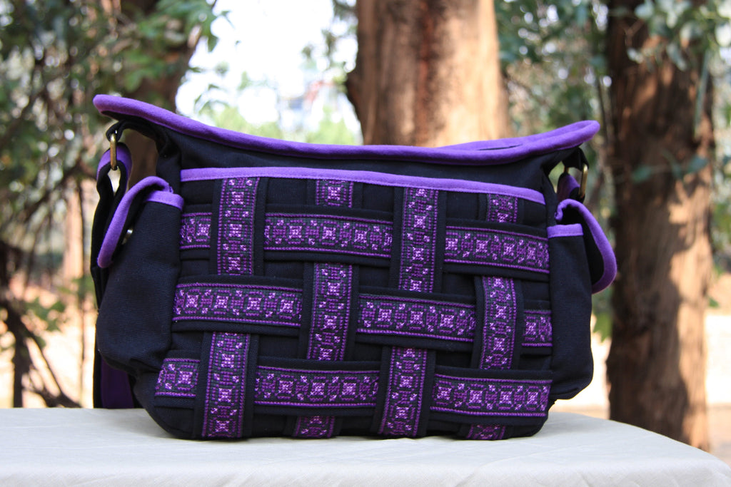 Hmong Handmade Purple Handbag