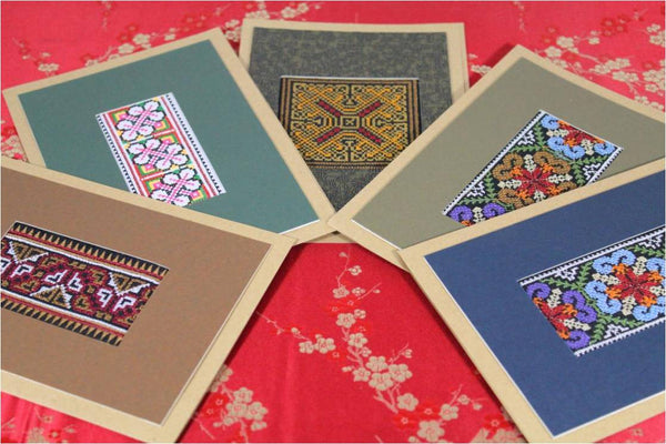Hmong Handmade Greeting Cards Set of Five