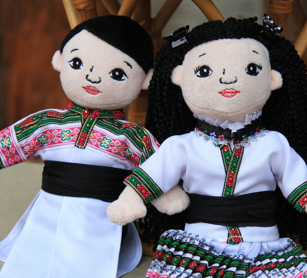 Hmong Handmade Male and Female Dolls